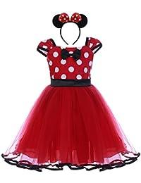 Bebé Niña Vestido de Fiesta Princesa Disfraces Tutú Ballet Lunares Fantasía Vestido Carnaval Bautizo Cumpleaños Baile