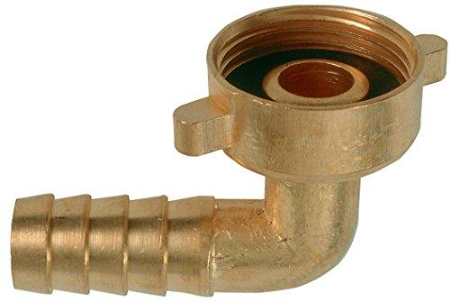"""Cornat Winkelverschraubung 90° IG 3/4\"""" für Wasserhähne mit AG 3/4\"""" plus Wasserschläuche 1/2\"""", Messing / Garten Bewässerung / FLOR92400"""