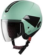 Steelbird Hi-Gn SBH-5 VIC Female Glossy Jade Green with Plain Visor,560 mm