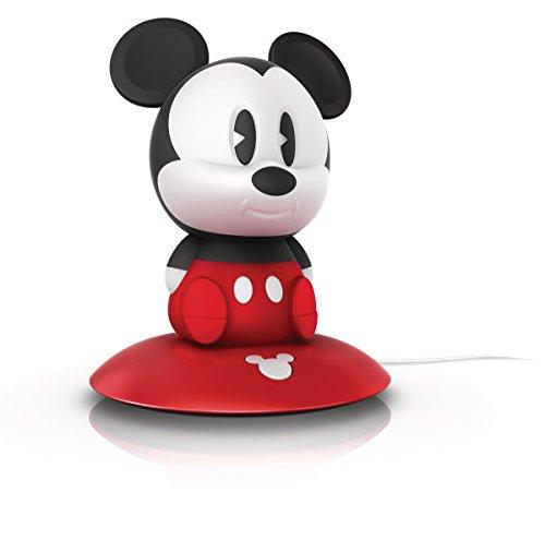 Philips Disney Micky Maus LED Nachtlicht, schwarz/rot, 717093016