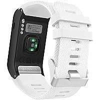 MoKo Sport Armband für vívoactive HR - Silikon Ersatz-Uhrenarmband Uhrenarmband Einstellbar Armband Replacement Wechselarmband watch band für Garmin vívoactive HR Sport GPS-Smartwatch, Weiß
