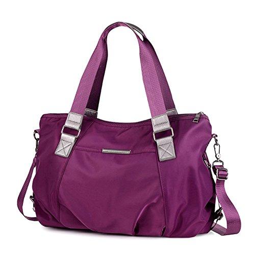 Ladies singola borsa a tracolla,messenger bag/borsetta,borsa di tela-porpora porpora