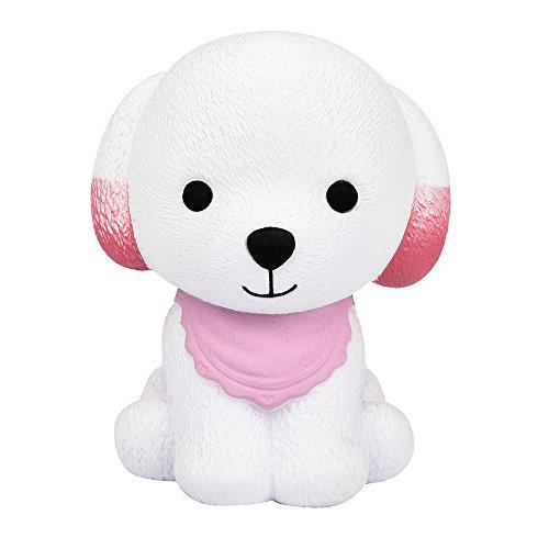 Squishy Puppy Spielzeug Puppy Sunday 12cm Jumbo Squishy Cute Puppy Duft Creme Langsam Steigende Squeeze Dekompression Spielzeug Slow Rising Hündchen Toy (Rosa, 12cm) (Bar Damen Steigende)