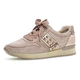 Gabor Damen Low-Top Sneaker 24.421.14, Frauen Halbschuh,Schnürschuh,Strassenschuh,Business,Freizeit,antikrosa/rame,42 EU / 8 UK