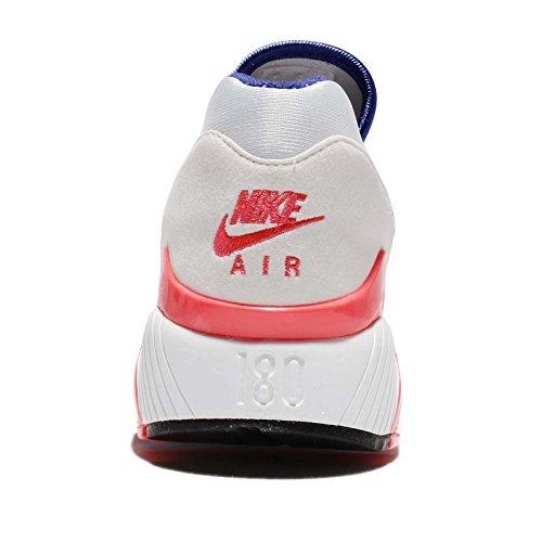 Nike Air Max 180, Scarpe da Ginnastica Uomo Bianco (White Ultramarine Solar Red 100)