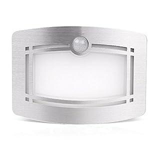Ajusen Motion Sensor Light, Battery Powered Motion Sensing LED Stick Anywhere Hallway Night Light for Home, Cabinet, Closet, Bedroom
