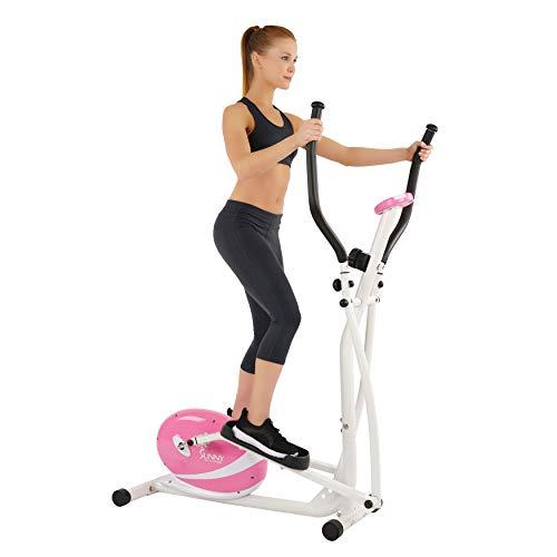 Sunny Health & Fitness Pink Magnetic Elliptical Cross Trainer Elliptical Machine w/ LCD Monitor - P8300