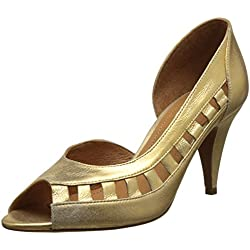Schmoove Damen Odissey Open Peep-Toe Pumps, Or (Oro), 38 EU