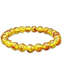a2b7261817d WikiMiu Bracelet Ambre Perles Femme Homme Taille Réglable