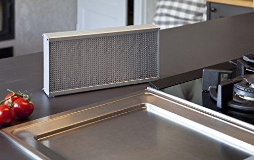 Luftreiniger LRK2 für die Küche - filtert das Fett aus der Luft - gegen Geruch, Bakterien, Schimmel, Fett + Hochwertiges Metallgehäuse, extra leise