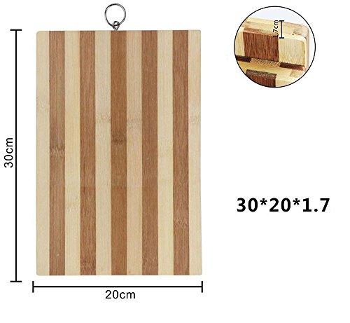 Vetrineinrete® tagliere in legno di bambù zebrato per aperitivo vassoio taglieri per servire salumi formaggi affettati antipasti finger food decorazione per casa cucina varie misure 99433 (30x20x1,7 cm) b48