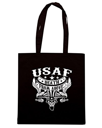 T-Shirtshock - Borsa Shopping TM0663 usaf death from above Nero