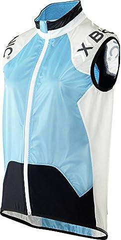 X-Bionic Erwachsene Funktionsbekleidung Biking Lady Spherewind UPD OW Vest, Turquoise/White/Black,