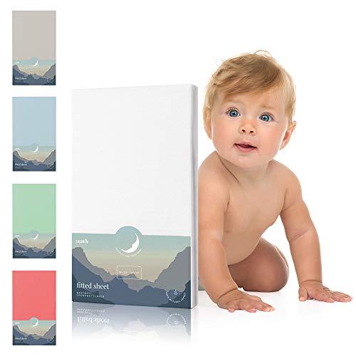 Laleni Spannbettlaken für Babybett Kinderbett - 60x120 bis 70x140 cm, atmungsaktiv, 100{faaa9a270500c3ab84f5bd526a63b5fcaba5f5ae4c006a7b9c698ba7ad31b27e} Baumwolle