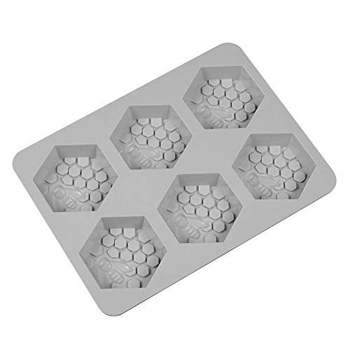 Honsin Silicone Mould 6 Honey Bee Design Soap Clay Wax Mold for Handmade DIY Craft (Molds Soap Silikon Handmade)