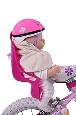 Girls Girlie Bike Pink Dolly Seat Complete With Exclusive Dolly's Own Helmet Ultimate Present by Ammaco