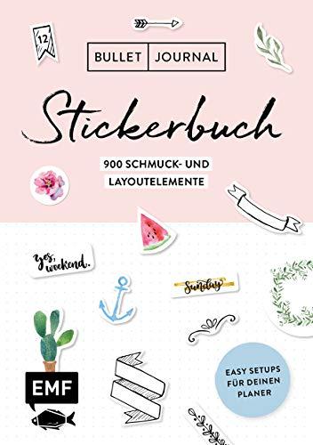 Bullet Journal - Stickerbuch: Band 1: 900 Schmuck- und Layoutelemente: Mit Tipps für dein Journal-Setup und 100 Vorlagen zum Abpausen (Vorlage Journal -)