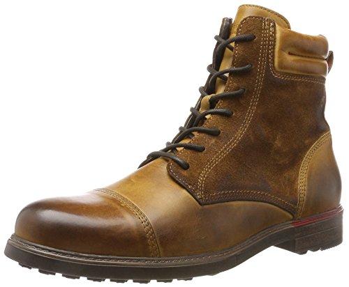 nobrand Herren Iron Klassische Stiefel, Braun (Cognac), 44 EU (Schnee Leder Stiefel Echtes)