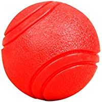 Topker Dientes Formación sólida Bola de Goma de mascar para Mascotas Perro Bitting elástica Duradera portátil DE 4,5 cm Juguetes para Mascotas