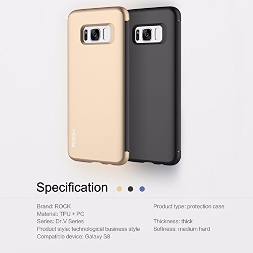 Sanchar's ROCK Dr.v series Flip Case for Samsung S8 invisible window slip to answer case cover for s8 - Golden  available at amazon for Rs.1299