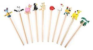 """Bleistifte """"Tiere"""" 10x, verschiedene Bleistifte mit lustigen Tierköpfen, tolles Gastgeschenk an Kindergeburtstagen"""