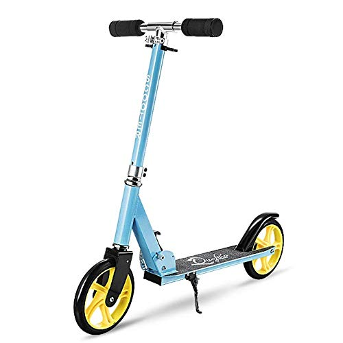 NBSDQ Children Kicking Scooter Two-Wheeled Scooter, Student Pedal Folding Scooter (Color : Blue)