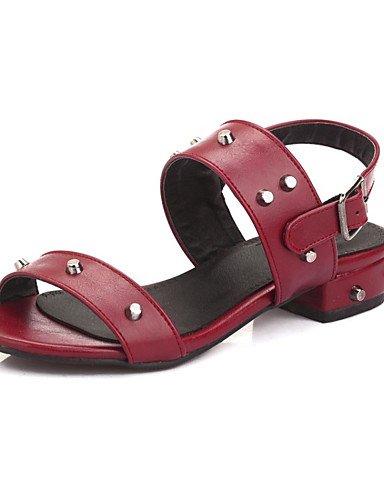 LFNLYX Scarpe Donna-Sandali-Tempo libero / Formale / Casual / Serata e festa-Comoda-Piatto-Finta pelle-Nero / Rosa / Rosso Pink
