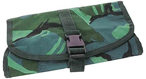 Style Militaire Armée d'entretien pour bottes Noir Vernis pinceau de nettoyage Kit de voyage Sac