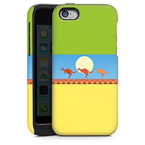 Apple iPhone 4 Housse Étui Silicone Coque Protection Australie Kangourou Vacances Cas Tough brillant