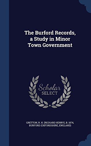 The Burford Records, a Study in Minor Town Government