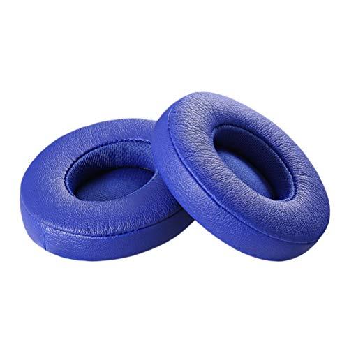 Hemobllo 1 Paar Ersatz Kopfhörer Ohrpolster Kissen Bluetooth Headset Abdeckung mit Audiokabel für Solo 2 (Blau) -