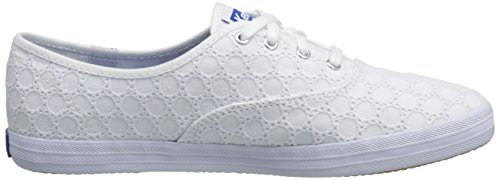 Keds Ch Eyelet, Chaussures à Lacets Femme, Bleu Marine, Various Blanc (Blanc)