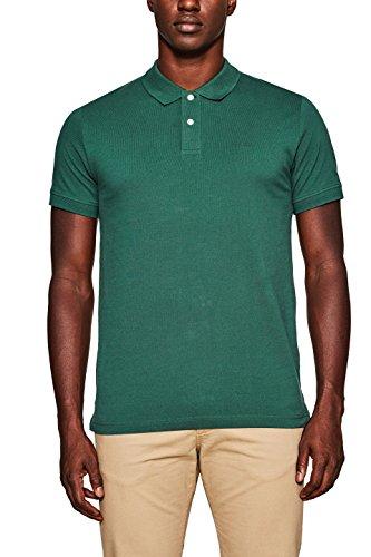 ESPRIT Herren Poloshirt 998EE2K808, Grün (Dark Green 300), Medium (2-knopf-polo-shirt)