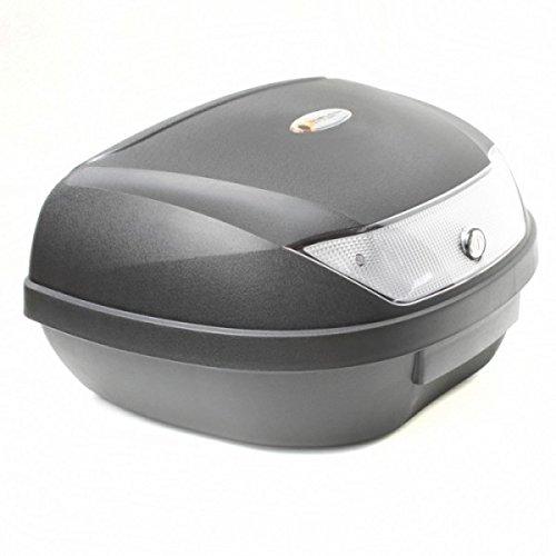 Wohnstyle24 Topcase Koffer 053 schwarz Hartschalenkoffer Aufbewahrung Gepäck Motorradkoffer Motorradtasche Top Case