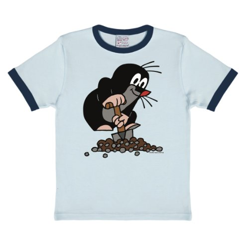 Logoshirt Der Kleine Maulwurf T-Shirt Kinder - hellblau - Lizenziertes Originaldesign, Größe 104/116, 4-6 Jahre -