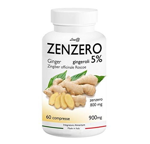 zenzero 800 line@ titolato al 5% in gingeroli - 800mg per cpr (60 cpr-1mese) - per contrastare gli accumuli adiposi, il gonfiore addominale e snellire il punto vita! 100% naturale 100% italiano