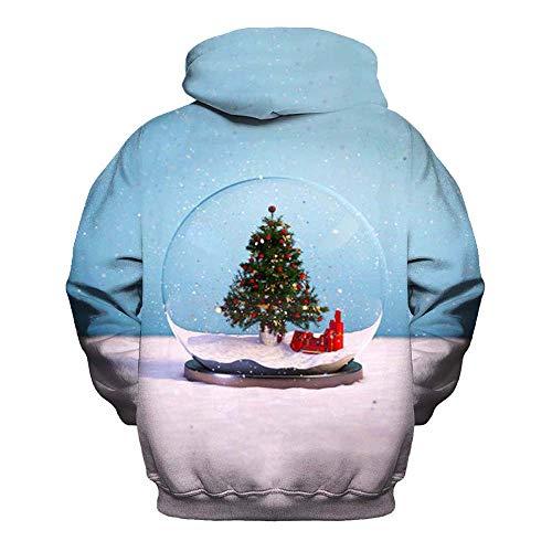 BaZhaHei Winter Herren Weihnachten Kapuzenpullover Pullover 3D Druck Sweatshirt Pullover Lässiger...