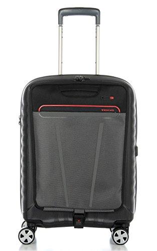 Trolley cabina porta pc Roncato Double 5145 nero/rosso