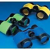 Fun Express 12 Plastic Kids Binoculars, Asst Colors, Party Favors, Pretend Play