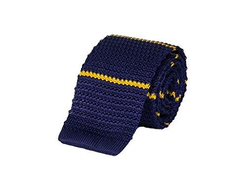 40 Colori, corbata de punto a rayas finas de pura seda Tinta - Vespa Talla única