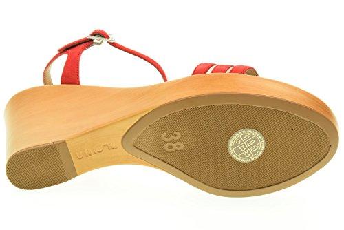 UNISA donna sandali con la zeppa RUFUS_KS GUAVA Corallo
