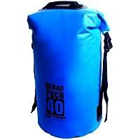 Karana Ocean Dry Pack Day Waterproof Travel Kayak Duffel Bag 40 Litre 40L Blue