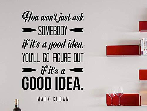 Dozili Mark Wandaufkleber mit kubanischem Zitat You Won\'t Just Ask Somebody, 63,5 x 43,2 cm