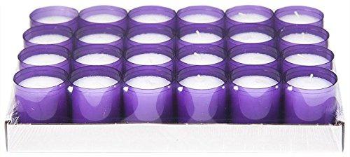 Sovie Refill Kerzen 24 lila Teelichter mit extra Langer Brenndauer (24h) für Feiern/Party/Gastronomie - Violet Wand Beleuchtung