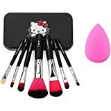Miss& Mam Makeup Brush Set Of 7 With Storage Box And Sponge Puff