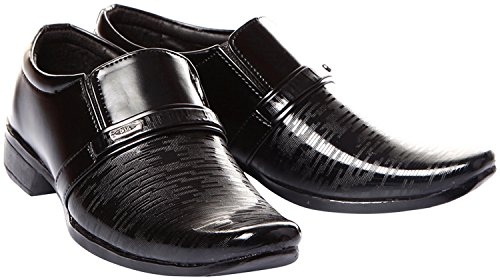 Trilokani Good Premium Quality Comfortable Daily Formal Wear Black Shoes for kids Boys