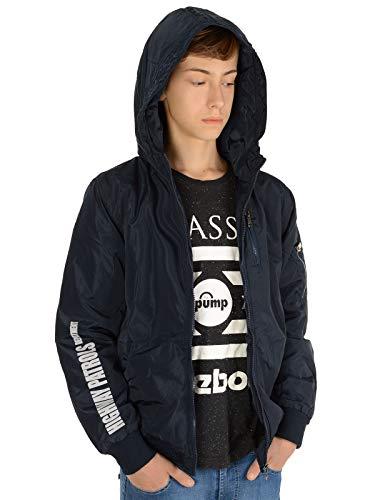 BEZLIT Kinder-Jacke Jungen-Jacke Bomber-Jacke Kapuzen Sweat-Jacke Lang-Arm 22868 Blau 152