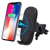 ShellBox Auto Wireless Phone Charger, Qi 10W Smartphone Handy Halterung Handyhalter Aufladen kompatibel mit iPhone 8/9 Plus/x/XS Max/XR, Samsung Galaxy S6/S9/ S8/ S7/ Note8, Nexus 5/6, Huawei 20 Pro