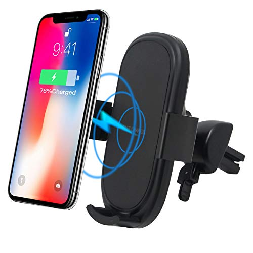 Caricabatterie auto wireless Shellbox, Qi 10W porta cellulare da auto, Smartphone Accessori compatibile per samsung galaxy note 8/s6/s9 /s9 +/s8 /s7 /Note8, iPhone 8/ 9/10 /X /XS Max / XR, Nexus 5/6