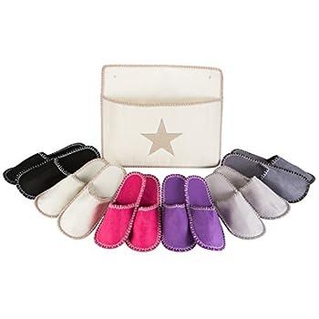 Levivo chaussons invités, 13 pièces Set en feutrine avec motif étoiles